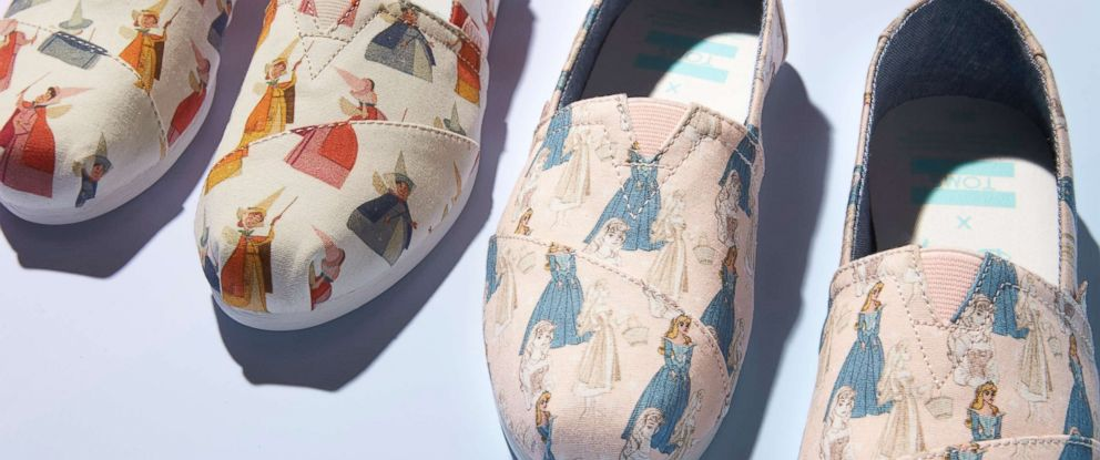 PHOTO: Disney and TOMS have released a Sleeping Beauty collection featuring shoes based off original sketches.