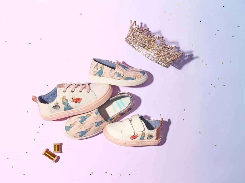 PHOTO: Disney and TOMS have released a Sleeping Beauty collection featuring womens and kids sizes.