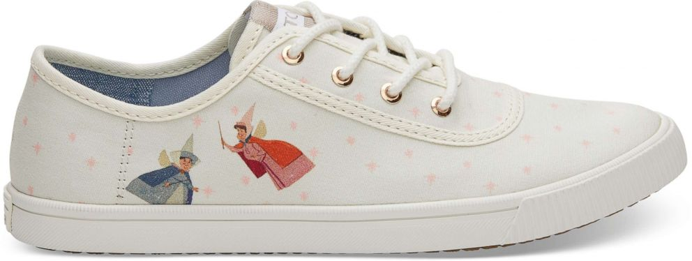 801fde10cc2 PHOTO  These Disney and TOMS sneakers feature Sleeping Beautys fairy  godmothers.