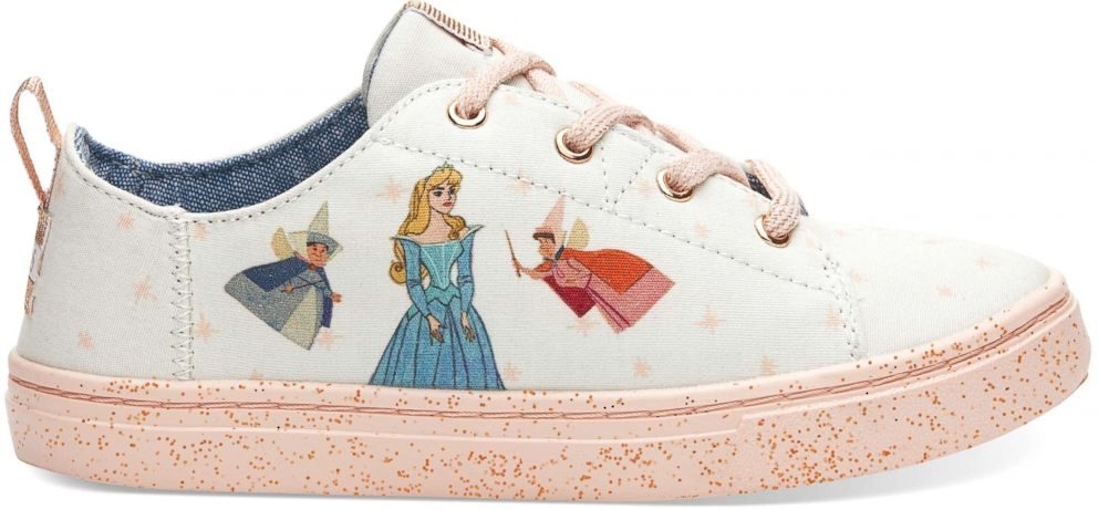 PHOTO: The Disney and TOMS Sleeping Beauty sneakers come in kids sizes for the little Sleeping Beauty fan in your life.