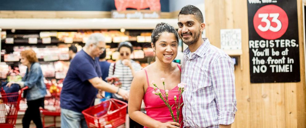 PHOTO: Sidd Sinha said his girlfriend Melanie Diaz had a dream that they got engaged at a grocery store, so he made her dream come true.