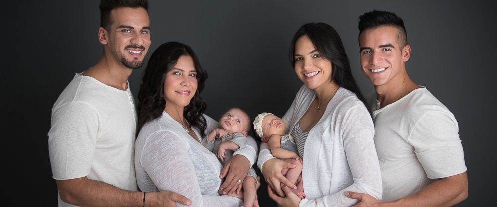 "PHOTO:Mariely Martinez,left,had a son named Matteo thanks to her donor/friend, Ceserino ""Juny"" Roman, who is married to Alex Torres. Torres is the father to Marla after he donated his sperm to Carla Melendez, right. Carla is the wife to Mariely Martinez"