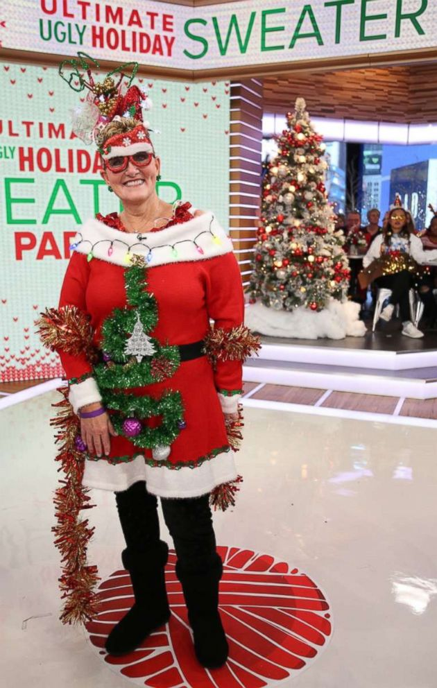 PHOTO: Jennie Taylor, the wild card Good Morning America audience member who was chosen to compete, said her look was Dollar Tree avant-garde.