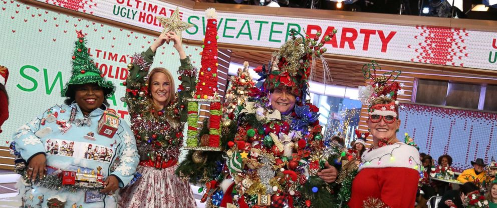 """PHOTO: Steve Kemble, 58, of Dallas, took home the grand prize for ugliest holiday sweater on """"GMA."""""""