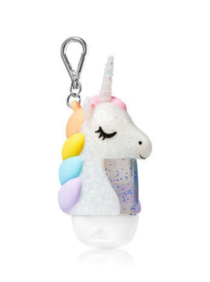 PHOTO: Sparkly Unicorn pocket antibacterial holder from Bath & Body Works.