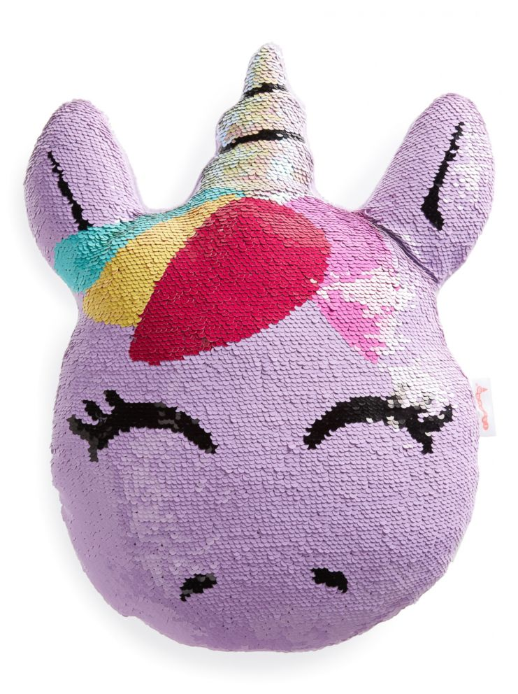 PHOTO: Unicorn Reversible Sequin Pillow