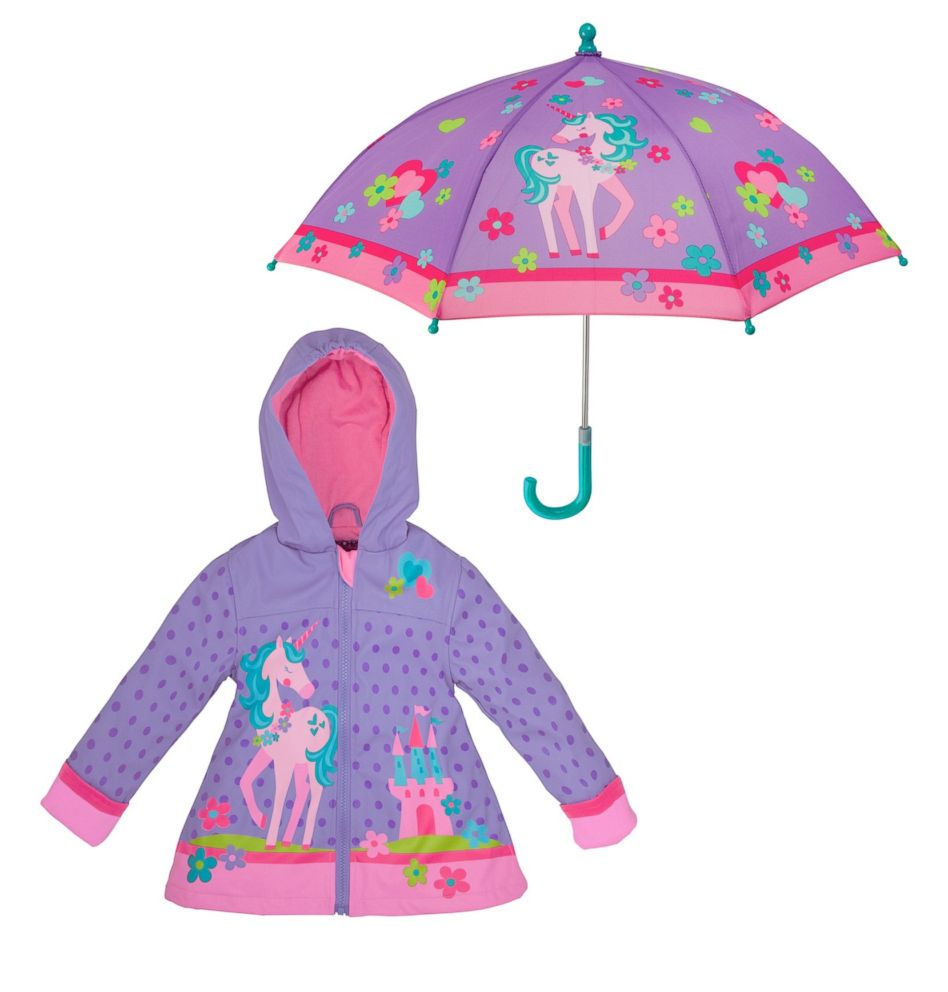 PHOTO: Unicorn Raincoat & Umbrella Set