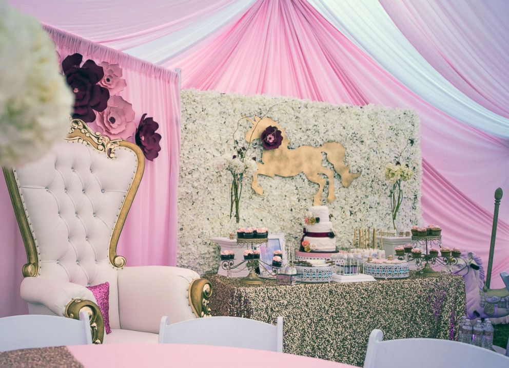 PHOTO: This unicorn baby shower was planned by Lesly Marquez of Glam Spot Events, in Santa Ana, Calif.