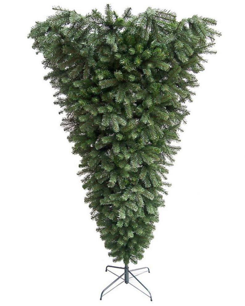 photo cap 75 foot upside down spruce christmas tree sold at home depot