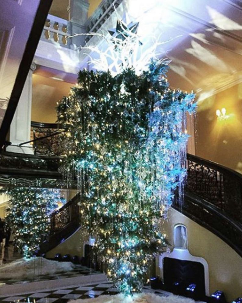 photo an upside down christmas tree shared on instagram - Upside Down Christmas Tree Decorated
