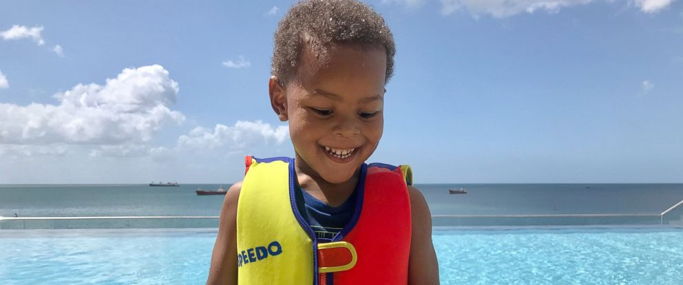 PHOTO: Brooke Crittendons 3-year-old son Lennon in Trinidad in Summer 2017.