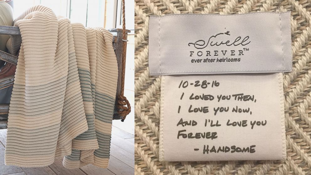 PHOTO: Swell Forever blankets can be personalized.