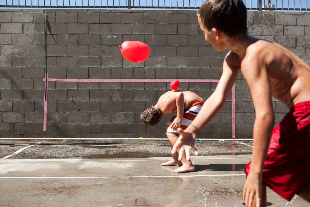 PHOTO: Children play with water balloons in this undated stock photo.
