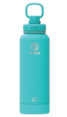 PHOTO: 40 oz. Actives Collection insulated water bottle from Takeya in teal.