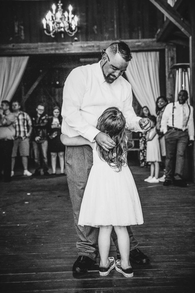 PHOTO: Timmy Gibson dances with his daughter Lexi during his May 12 wedding.