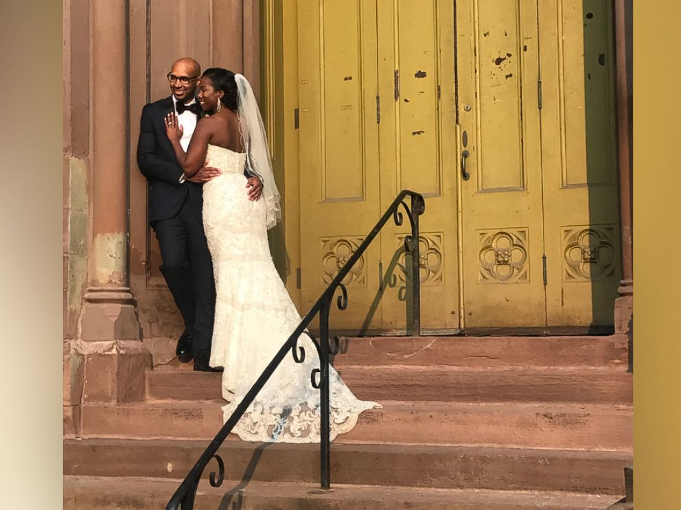 PHOTO: Chavuanne Cousins with her husband, Joseph, on their wedding day, Sept. 15, 2017, in Buffalo, NY.