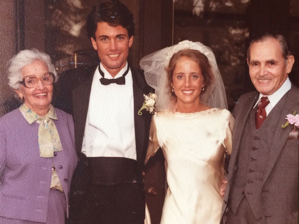 PHOTO: Maria Teresa Moreno and Manuel Moreno pose with Marta and Kevin OHara on their wedding day in 1983.