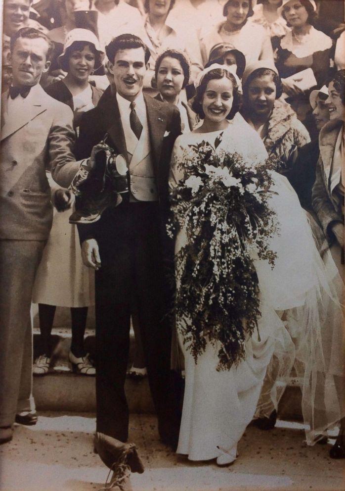 PHOTO: Maria Teresa Moreno and Manuel Moreno pose at their 1932 wedding in Los Angeles.