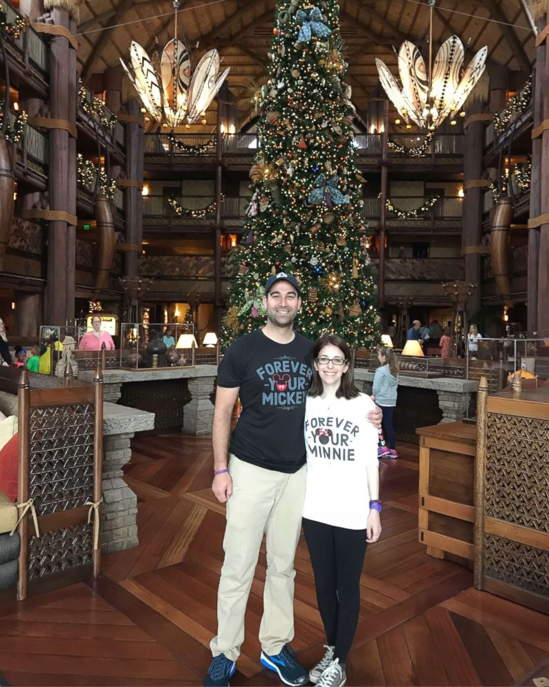 PHOTO: Nicole and Danny Rios pose together at Walt Disney World in Orlando, Florida.