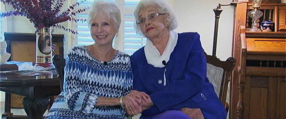 PHOTO: Muriel Clayton, 92 officially adopted Mary Smith, 76 on June 9, 2015.