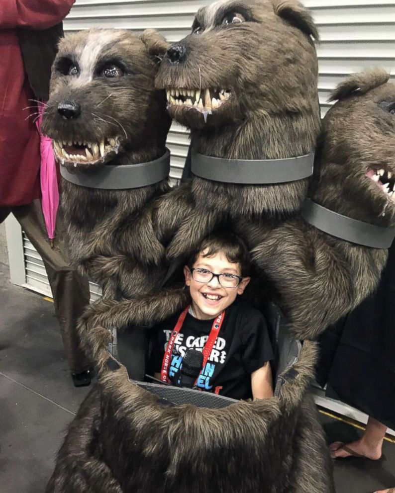 PHOTO: Kyle McCarthy, 10, of Hood River, Ore., wanted to be Fluffy, the three-headed dog from Harry Potter, to be able to scare people.