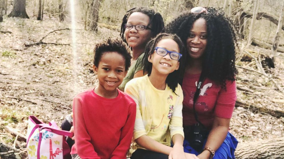 Darcel White poses with her children Nakiah, 12, Samuel, 7, and Ava, 10, while spending time outdoors.