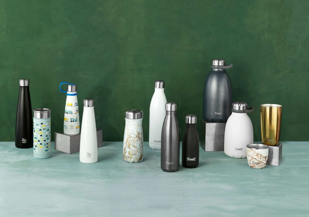 PHOTO: A variety of reusable insulated Swell bottles and Sip by Swell products that are perfect for summer.