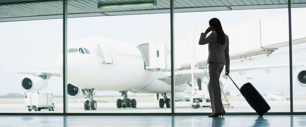 PHOTO: A woman is pictured at the airport in this undated stock photo.