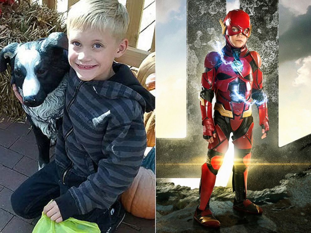 PHOTO: Zaiden Stolrow suffers from severe ADHD. | Zaiden Stolrow as The Flash.