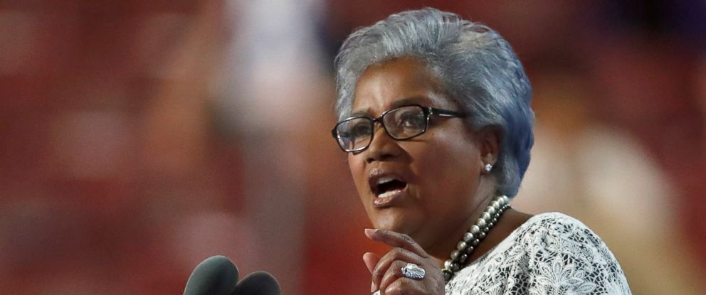 PHOTO: Donna Brazile speaking during the second day of the Democratic National Convention in Philadelphia, Penn, July 26, 2016.