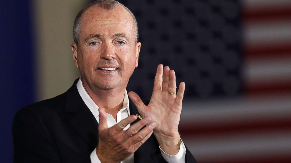 Democratic candidate Phil Murphy, who is running against Republican Lt. Gov. Kim Guadagno for the governor of New Jersey, speaks at a rally on Oct. 19, 2017, in Newark, N.J.