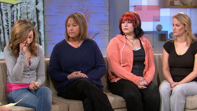 "PHOTO: Lauren Scalzo, Lana Clark, Traci Leubner and Charlene Leubner appeared on ""GMA"", Feb. 7, 2012."