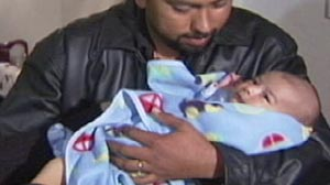 PHOTO: Calif. baby of slain mother reuninted with family