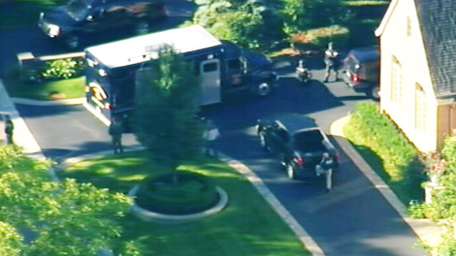 PHOTO: A West Bloomfield, Mich. police officer has been shot and killed during a standoff between police and a barricaded gunman, Sept. 9, 2012.