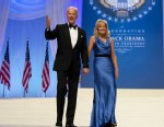 PHOTO: Vice President Joe Biden and his wife Jill Biden arrive to dance together at the Inaugural Ball, Jan. 21, 2013, at the Washington Convention Center in Washington,  during the 57th Presidential Inauguration.
