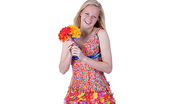 Prom Dress Made out of Starburst in River Falls Wisconsin - ABC News
