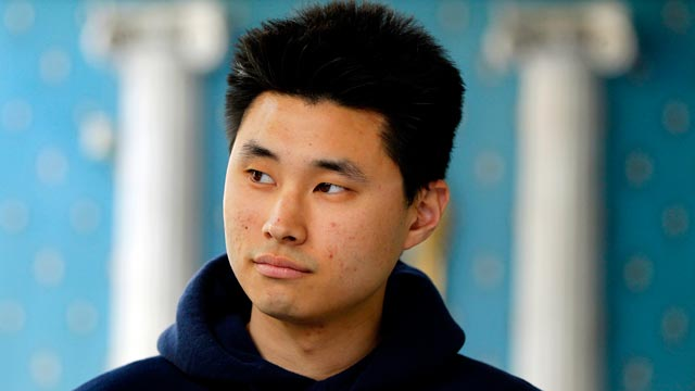 PHOTO: Daniel Chong appears at a news conference in San Diego where he discussed his detention by the DEA on May 2, 2012.
