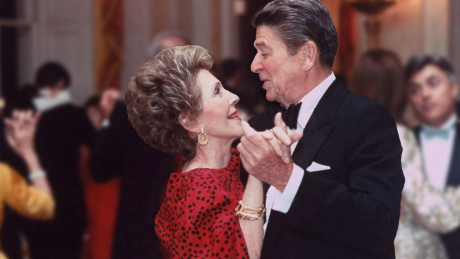 Nancy Reagan with charming, Husband Ronald Reagan