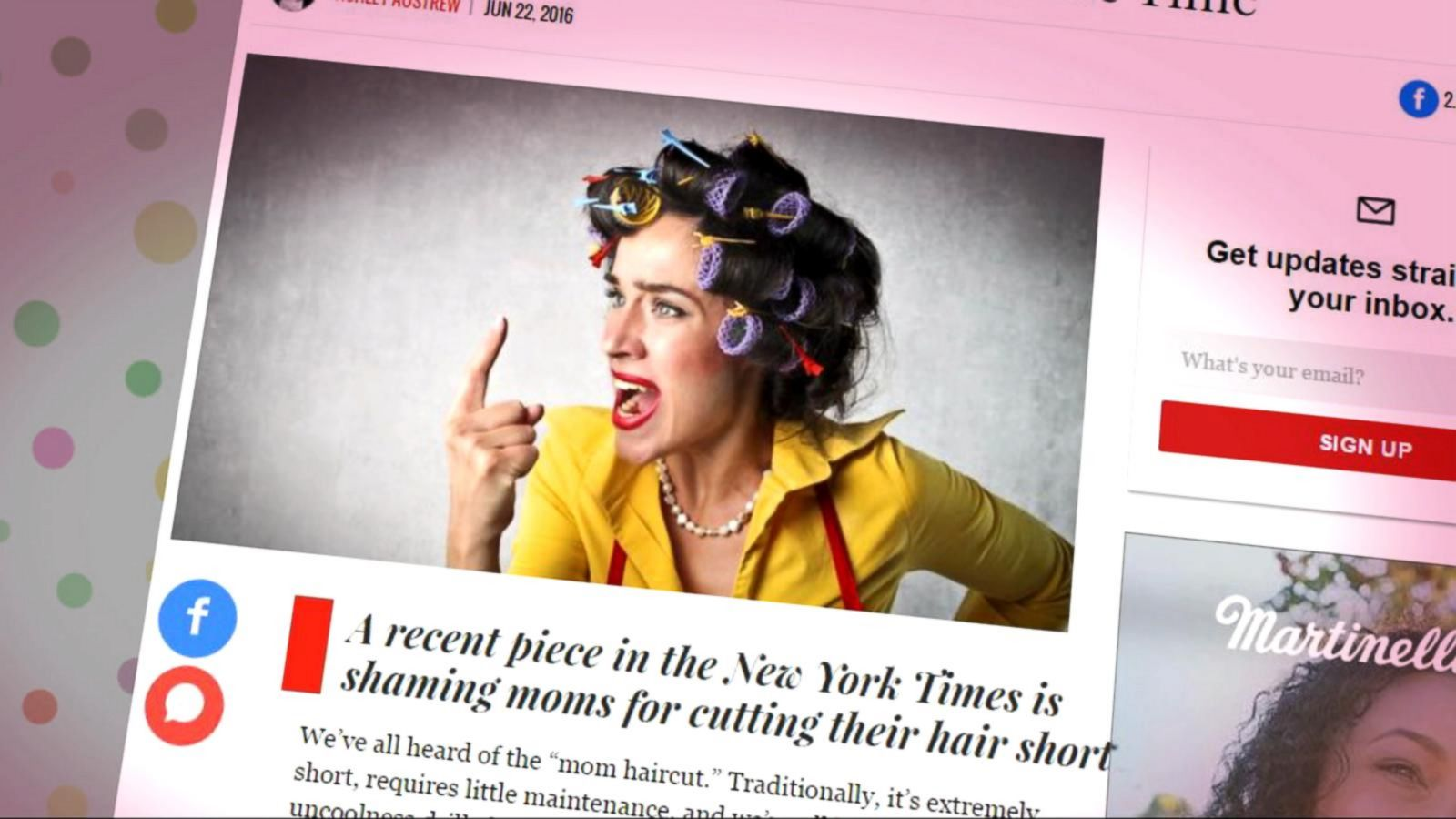 Mom Hair Article Sparks Online Outrage Among Critics Calling It