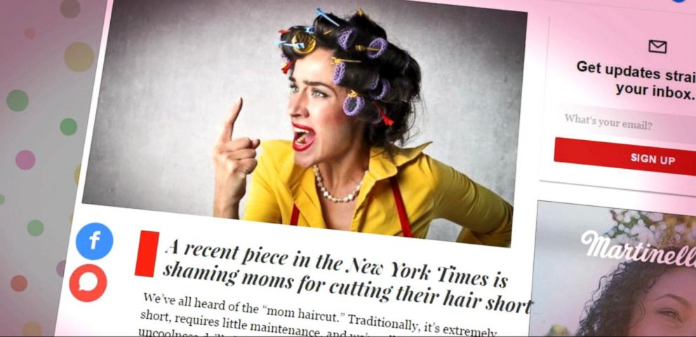 Backlash Over Mom Hair Article, Accused of Mom Shaming