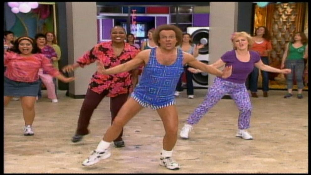richard simmons still steppin 39 video abc news. Black Bedroom Furniture Sets. Home Design Ideas