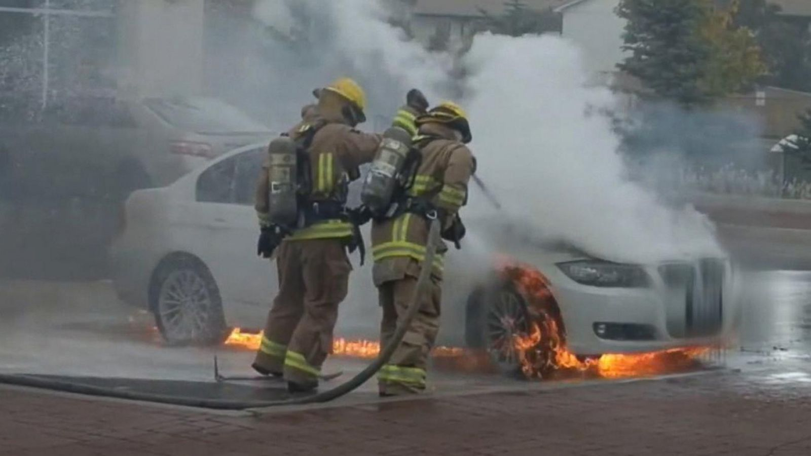 Parked BMWs bursting into flames leave owners with questions - ABC News