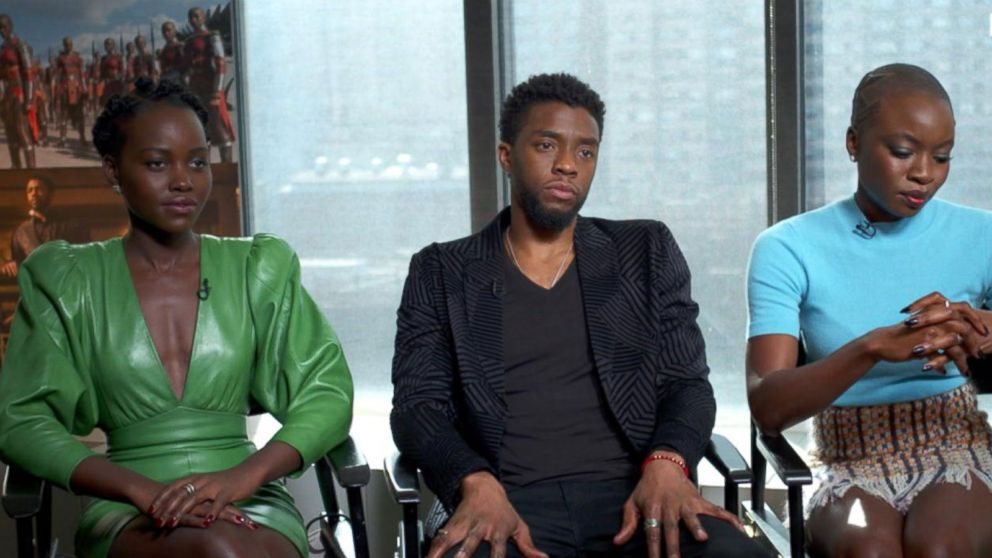 Black Panther Stars Chadwick Boseman Lupita Nyong O On The Film S Pre Sale Success Video Abc News