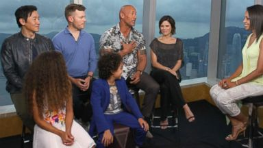 What The Rock's 'Skyscraper' co-stars think his nickname should really be Video