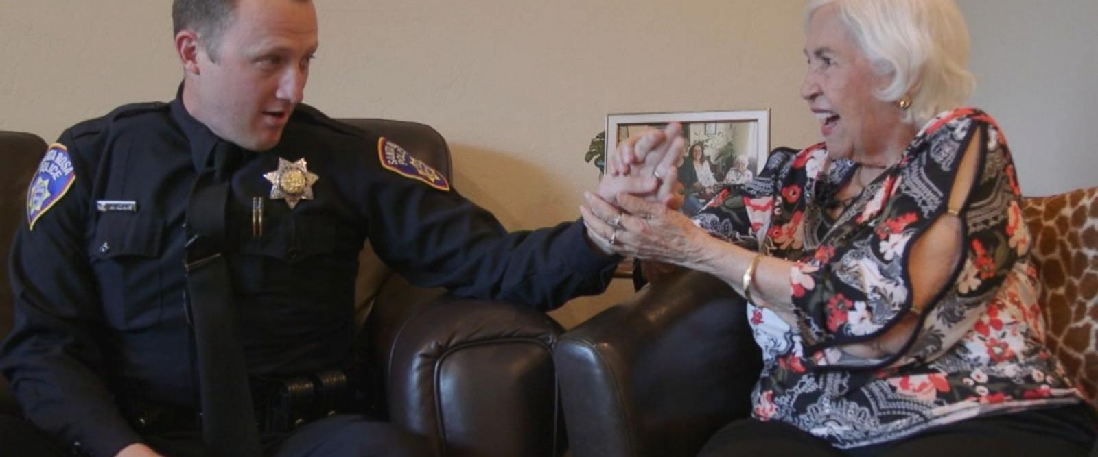 VIDEO: Santa Rosa police officer reunites with 87-year-old he saved in fire: Part 3