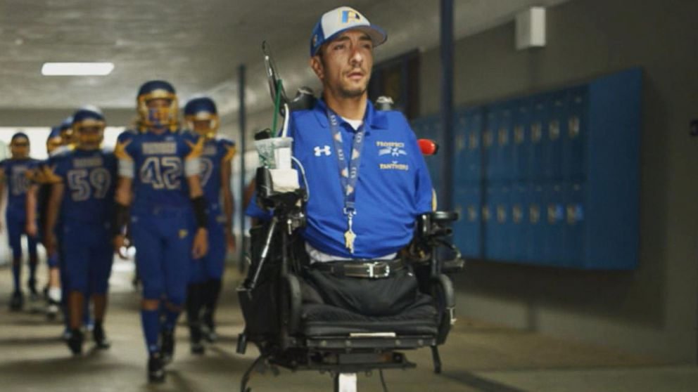 VIDEO: How a man born without arms or legs became an inspiring high school football coach
