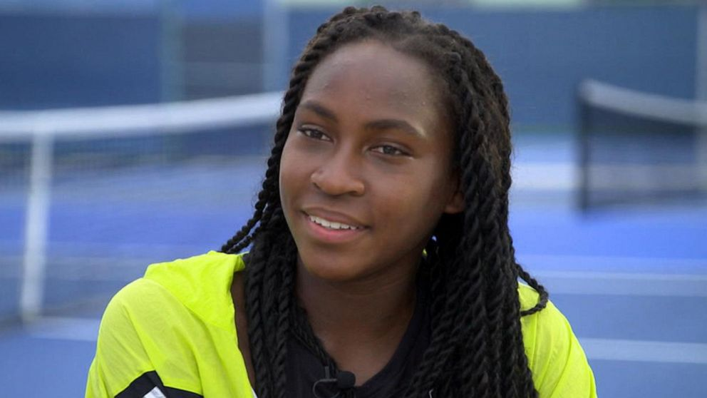 15-year-old tennis star Coco Gauff says she hopes 'to be the