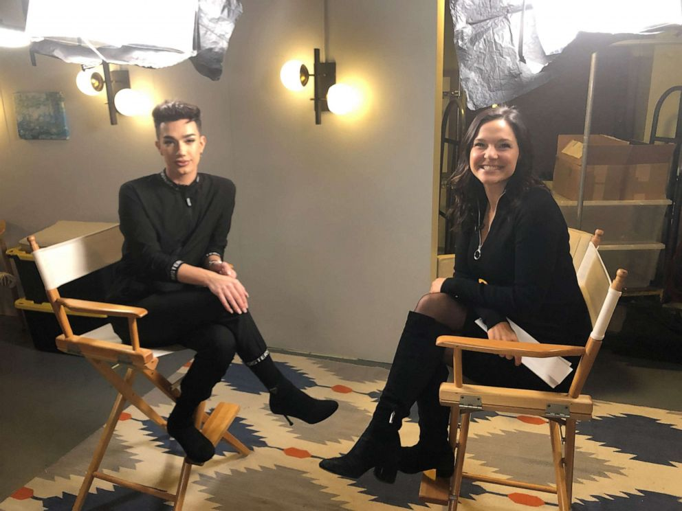 "James Charles sits with Maggie Rulli for an interview with ""Nightline"" on ABC News."