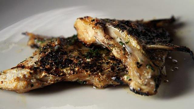 PHOTO:Grilled Loup de mer kama.