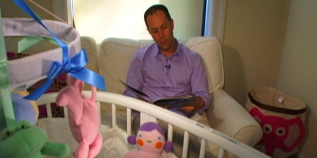 """PHOTO:Adam Mansbach, author of the popular just-for-parents bedtime story, """"Go the F--- to Sleep,"""" reads his book on """"Nightline."""""""